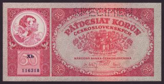 Czechoslovakia - 50 Korun,  1929 - Unc photo
