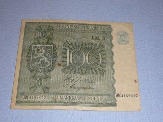 100 Markka Finland 1945 photo