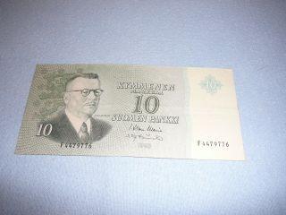 10 Markka Finland 1963 photo