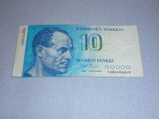 10 Markka Finland 1986 photo