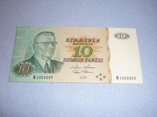 10 Markka Finland 1980 photo