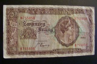 Luxembourg 20 Francs 1943 photo