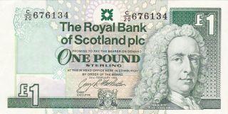 1993 Scotland 1 Pound Banknote photo