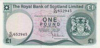 1981 Scotland 1 Pound Banknote photo