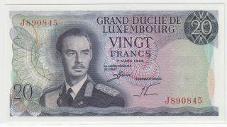 Luxembourg 20 Francs 1966 P - 54 Gem Unc photo