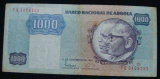 Angola 1000 Kwanzas 1987,  Pick 121b. photo