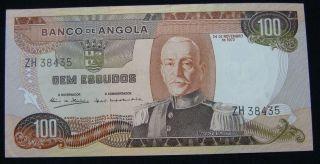 Angola 100 Escudos 1973 Unc. ,  Pick 103 photo