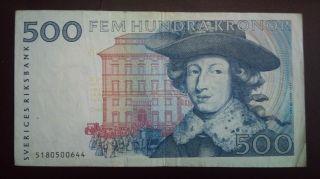 Sweden 500 Kronor 1985 (fem Hundra Kronor) photo