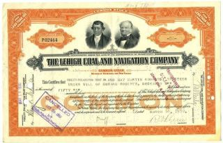 1930 Stock Certificate The Lehigh Coal And Navigation Company photo