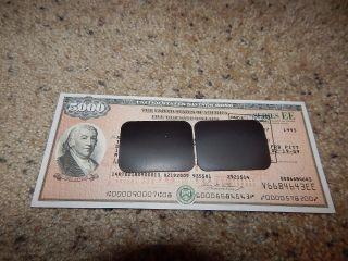 Us Savings Bond Series Ee Founding Fathers 3rd Ed.  $5,  000 Revere 1993 Ri 2009 photo