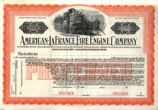 Fine Full Sz Color Reprint Only Known American Lafrance Stock W Ancient Fire Eng photo