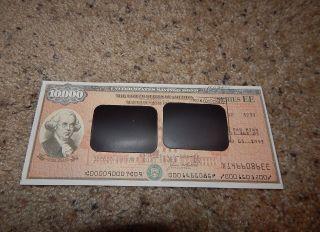 Us Savings Bond Series Ee Founding Fathers 2nd Edition $10,  000 Wilson 1991 photo