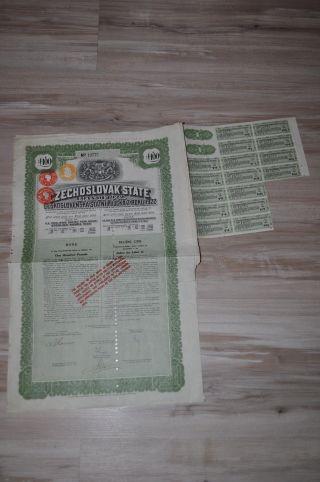 Czechoslovak State Loan 1922 Green photo