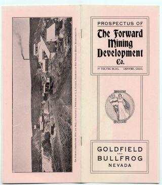 1905 Forward Mining Development Co Prospectus,  Goldfield Bullfrog Nevada Stock photo