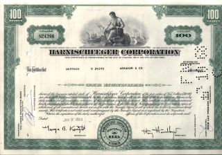 1 Mining Equip Co (harnischfeger Milwaukee Wi Now Joy Global) 60 ' S Stock W Ship photo