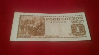 1981b Usda Food Coupon $1 Note Food Stamp Us Dept Of Agriculture photo