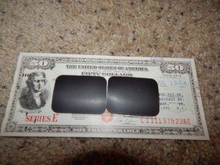 Us Savings Bond Series E Presidential $50 Jefferson Punchcard 1964 Ri 1975 photo