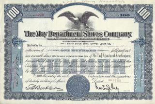1935 The May Department Stores Company Common Share Stock Certificate photo
