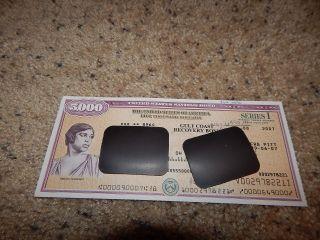 Us Savings Bond Series I $5,  000 Marian Anderson 2007 Gulf Coast Recovery photo