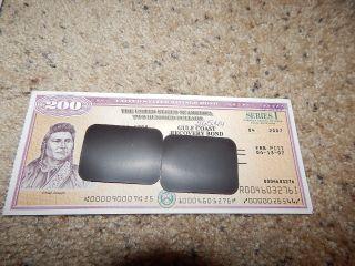 Us Savings Bond Series I $200 Chief Joseph 2007 Gulf Coast Recovery photo