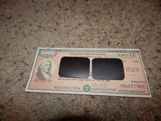 Us Savings Bond Series Ee Founding Fathers 3rd Edition $5,  000 Revere 2000 photo