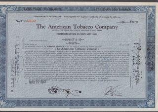 United States 1947 Ornate Bond Certificate The American Tobacco Co. .  R3342 photo