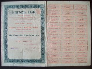 Belgium 1898 Bond With Coupons Compagnie Brabo Anvers - Tabac Tobacco.  R4040 photo