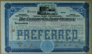 S1149 Laclede Gas Light Company Stock Certificate Blue Unissued photo