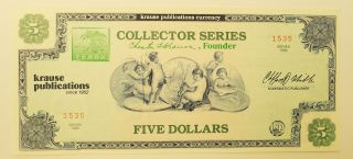 1990 Krause Publications Five Dollar Collector Series photo