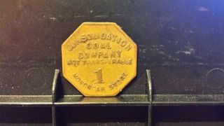 $1 Consolidation Coal Company Monongah Store Token Cumberland,  Maryland photo
