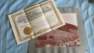 Telma Gold Mining Stock Certificate - Signed 1905 - Uncancelled - Photograph - Salida Co photo