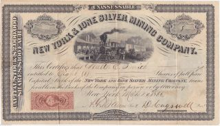 York & Ione Silver Mining Company Stock Certificate. photo