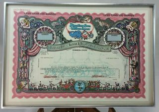 Ringling Bros.  Barnum & Bailey Combined Shows Circus Red Stock Certificate photo