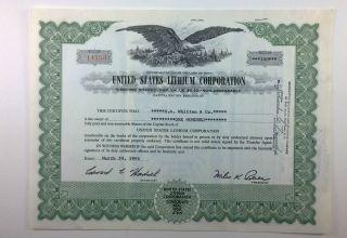 United States Lithium Corporation,  Stock Certificate,  Utah photo