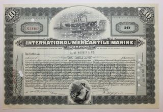 1928 International Mercantile Marine Co.  Stock Certificate Titanic Type 1 Blue photo