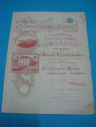 Agricultural Company Of Prince - Ten Share Certificate - 1900 photo