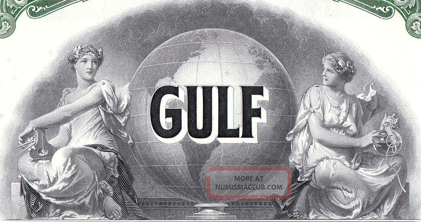 Transocean Gulf Oil - $1000.  00 Bearer Bond - Athena Stocks & Bonds, Scripophily photo