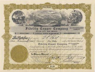 Fidelity Copper Company 1919 (mexico) photo