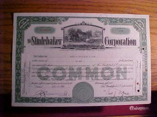 1940 Stock Certificate Scripophily The Studebaker Corporation Delaware photo