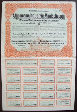 Netherlands 1928 Illustrated Bond Algemeene Industrie Maatsch.  Tobacco.  B1544 photo