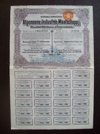 Netherlands 1928 Illustrated Bond Algemeene Industrie Maatsch.  Tobacco.  B1543 photo