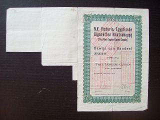 Netherlands 1926 Illustrated Bond Victoria Egyptische Ciraretten Tobacco.  B1548 photo