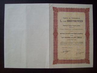 Netherlands 1926 Bond Beethoven Sigaren En Tabaksfabriek Tobacco. .  B1550 photo
