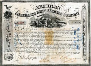 1869 [am Express] Stock - Sgd Wm Fargo Of Wells Fargo photo