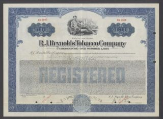 United States 1973 Bond Specimen - R.  J Reynolds Tobacco Company. .  B1581 photo
