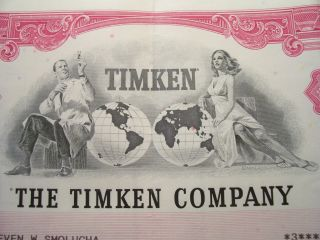 Timken Company Old Common Stock Certificate 1993 Non - Transferable Scripophily Nm photo
