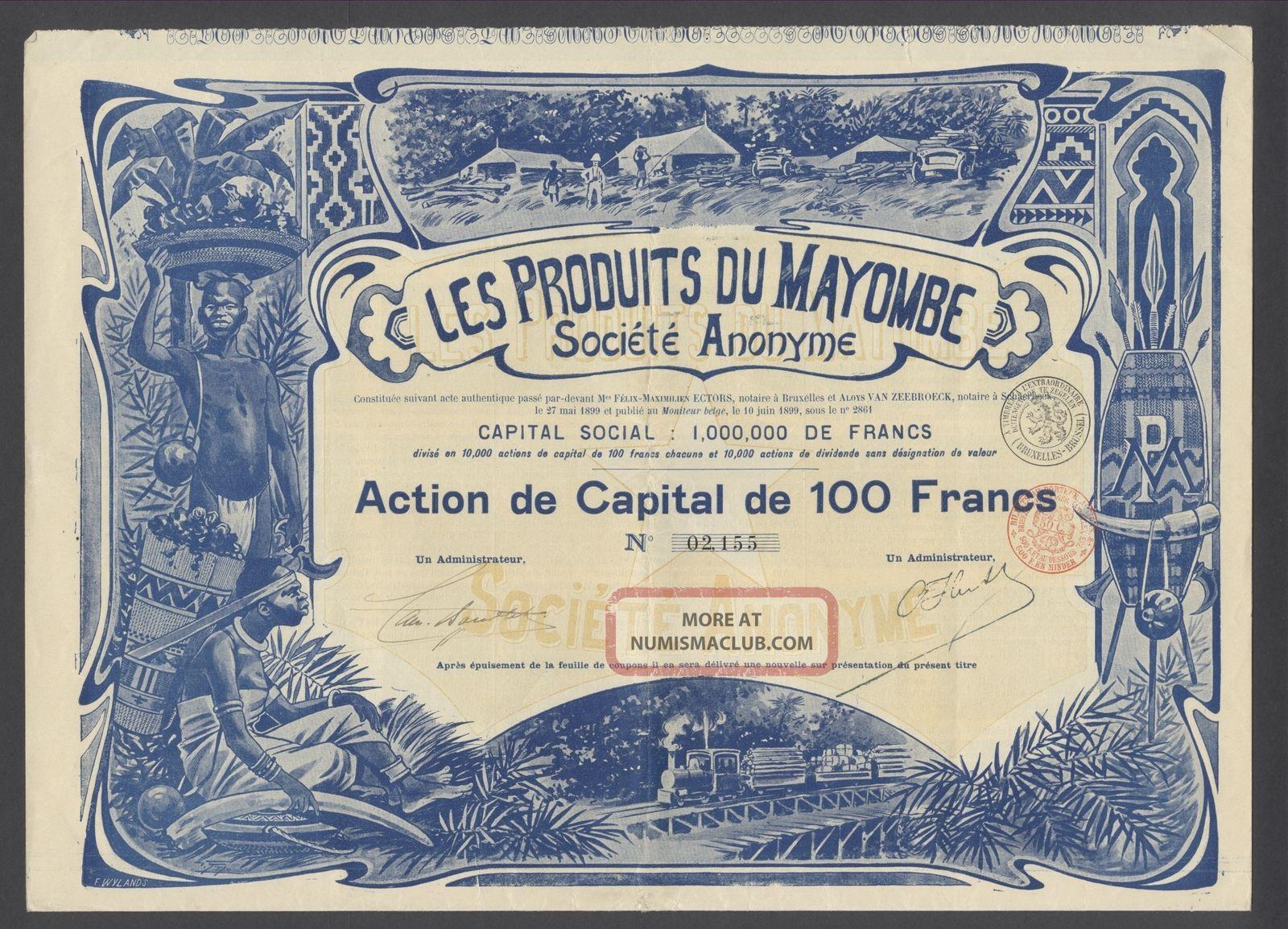 Belgium 1899 Bond - Les Produits Du Mayombe (congo) - Tabac Tobacco.  R3396 World photo