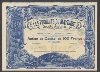 Belgium 1899 Bond - Les Produits Du Mayombe (congo) - Tabac Tobacco.  R3396 photo