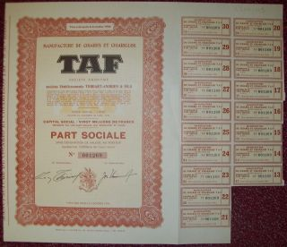Belgium 1953 Bond - Cigares Cigarillos Taf Manufacture - Tabac Tobacco.  R3387 photo