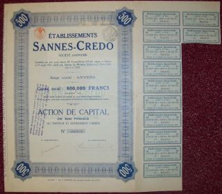 Belgium 1925 Bond - Sannes Credo Anvers - Tabac Tobacco. . .  R3378 photo